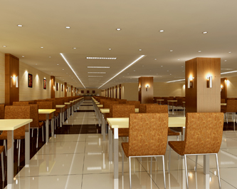 榆林人大单间办公室 榆阳区国税局地下餐厅-室内效果图高清图片