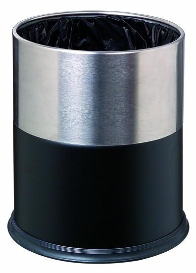 gpx-107双色套装垃圾桶砂钢套黑色-延安金德易商贸
