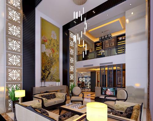狮子山庄刘老板别墅客厅-广州名匠装饰有限公司万州
