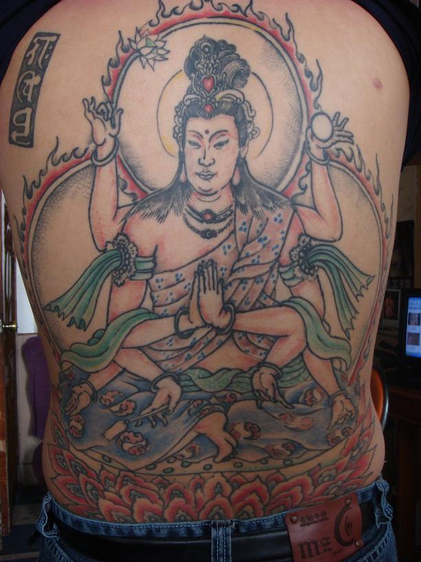 名称: 卧龙纹身; 纹身千手观音; 观音纹身图图片