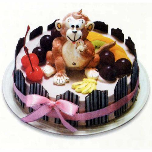 猴子动物蛋糕图片
