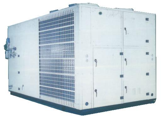 屋顶式空调机是凌度公司新研发产品,通过多年不断改进,有单冷型、电加热型、恒温恒湿型、恒温恒湿洁净型、热泵型等系列;机组具有能效比高、低噪音、高静压、控制精度高、安全可靠及振动小、防腐蚀程度高、密封性能好、防雨防尘性能好、安装方便以及外形美观等特点,具体如下:  1、机组设计为屋顶露天安装使用,具有防太阳暴晒、防锈蚀、防暴雨等性能,同时可节省空调机房和土建工程费用。   2、机组提供150-1000Pa的机外余压足够接风管通风,室内噪音较低。   3、机组为风冷直接蒸发膨胀式空调设备,无需冷却及冷冻水系统,