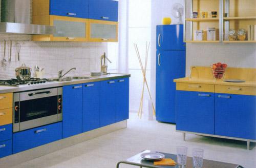 梦中海;; 蓝色橱柜装修效果图; 梦中海与您共创美好未来