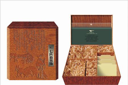 专业西裤包装设计; 深圳木质包装设计