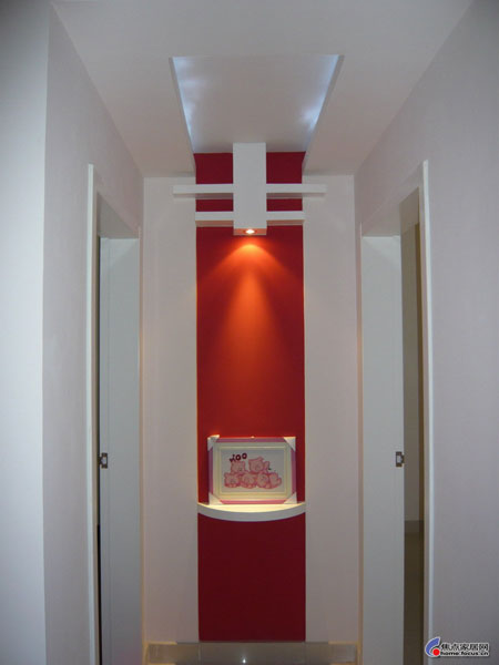 中式门厅吊顶效果图图片大全 进门玄关吊顶装修效果图