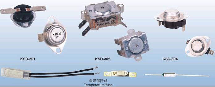 ksd-301/302/304系列突跳式温控器(温度保险丝)