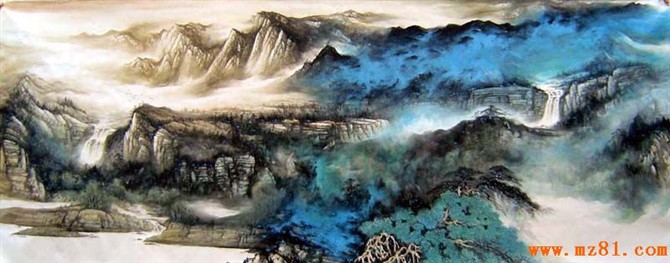 名稱: 山水畫 產地:知名畫家 單位:幅 價格:0