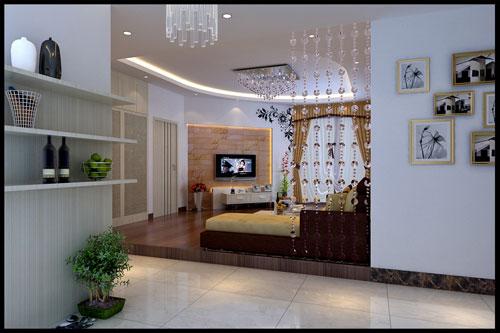 客厅效果图-香港嘉祺装饰|德清装饰|德清室内设计||嘉