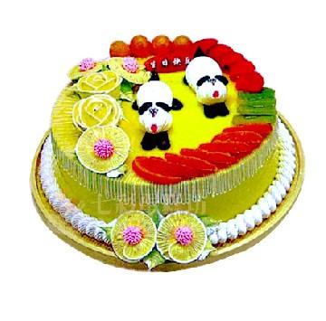 对可爱的小动物(样式仅供参考)   [包 装]:购买蛋糕附送贺卡,刀,叉,盘