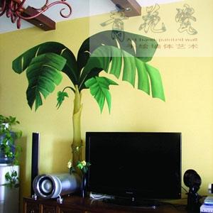 电视机背景2-遵义青花瓷手绘墙体艺术工作室