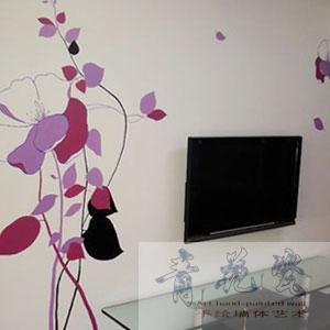 电视背景墙素材4-遵义青花瓷手绘墙体艺术工作室