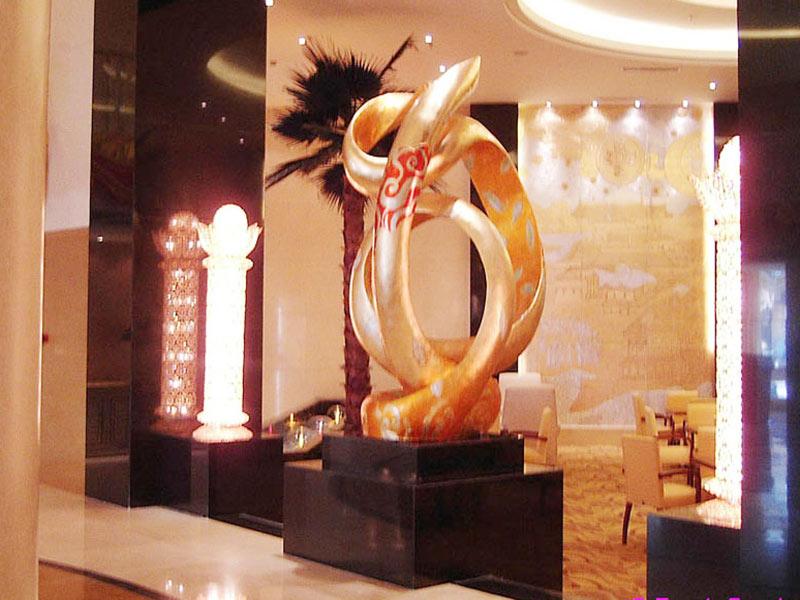 内蒙古丰镇大酒店大厅雕塑-杭州创海建筑设计有限公司