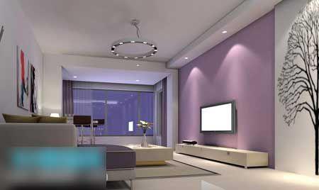 2011简约电视背景墙 最美客厅推荐-平江建材网|平江