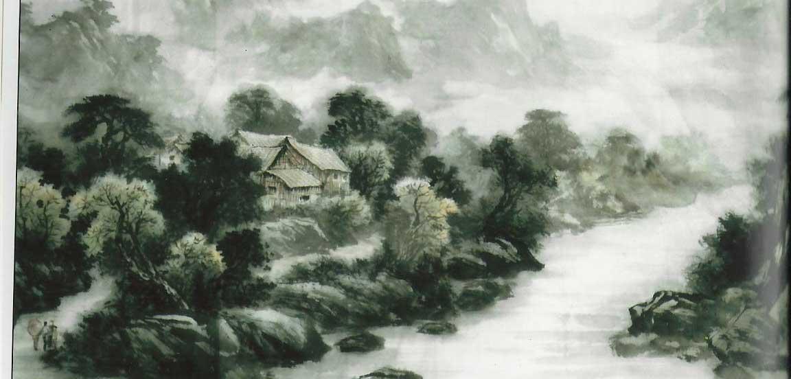 白石美术作品-国画-山水画2-长沙市白石美术作品有限