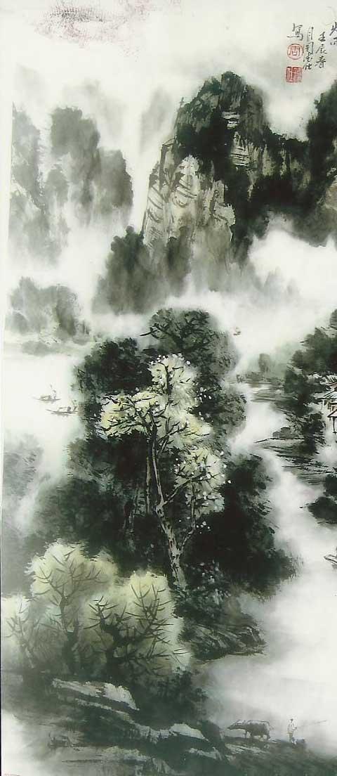 白石美术作品-国画-山水画3-长沙市白石美术作品有限