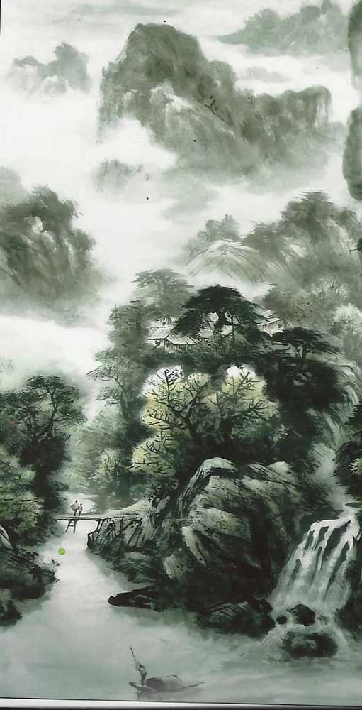 白石美术作品-国画-山水画4-长沙市白石美术作品有限