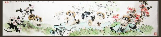白石美术 彭佑湘 动物画 小狗