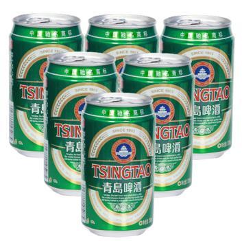 lj青岛啤酒优质罐装330ml6罐