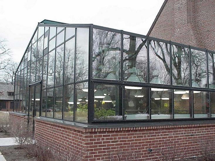 玻璃房子结构图