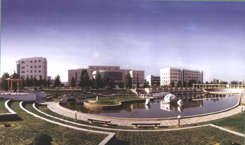 榆林学院手绘平面图